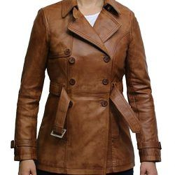 Brandslock Womens Genuine Leather Biker Jacket
