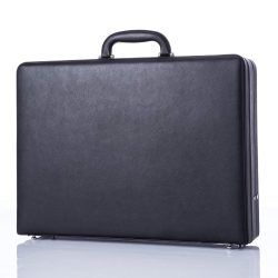 Business Leather Mens Briefcase for Travel