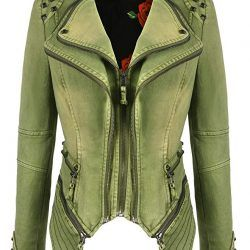 Chouyatou Womens Leather Biker Jacket
