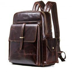 Contacts Genuine Leather Men 13 Laptop Computer Backpack
