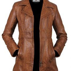 Faam Collection Splendid Short Body Lambskin Leather Coat