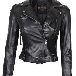 Fjackets Womens Black Leather Jacket