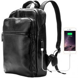 Genuine Leather 14 Laptop Backpack