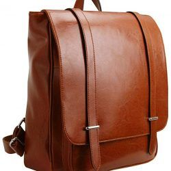 Iswee Unisex Leather Backpack