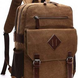 Kenox Mens Large Vintage Canvas Backpack