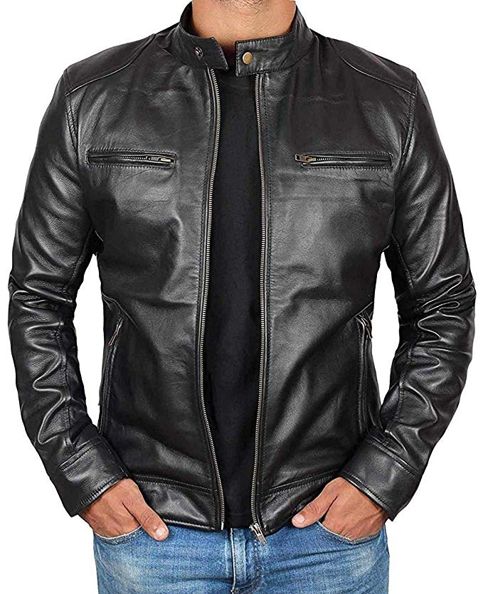 Lambskin Motorcycle Mens Leather Jackets