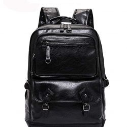 Laptop Backpack Genuine Leather Men Notebook