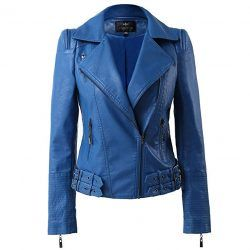 LingLuoFang LLF Womens Leather Moto Biker Jacket
