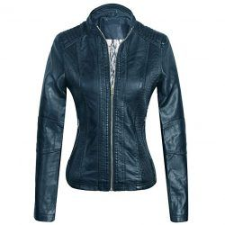 Marte&Joven Womens Leather Motorcycle Jacket Coat