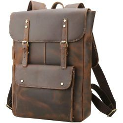 Polare Vintage Full Grain Leather College Backpack
