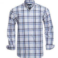 Double Pump Mens Button Down Shirts Long Sleeve