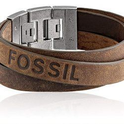 Fossil Men's Double Strap Leather Bracelet