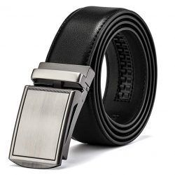 MUCO Mens Belt Leather Ratchet Belts With Automatic Buckle