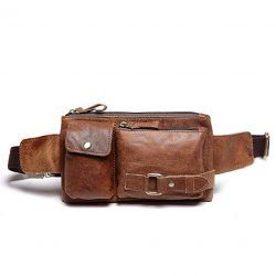 Teemzone Leather Waist Bag fanny pack