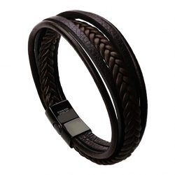 murtoo Leather Bracelet Magnetic-Clasp